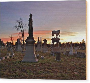 Riverside Sunset Wood Print by Stephen  Johnson