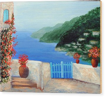 Wood Print featuring the painting Riviera by Larry Cirigliano