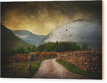 Road By The Lake Wood Print by Svetlana Sewell