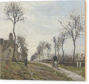 Road In Louveciennes Wood Print by Camille Pissarro