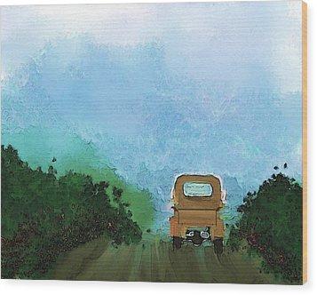 Road Wood Print by Mickey Harris