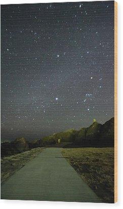 Road Wood Print by Noriakimasumoto