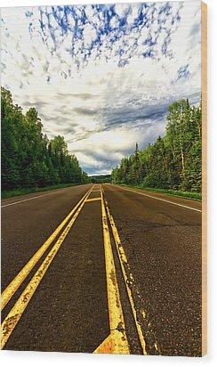 Road To Canada Wood Print