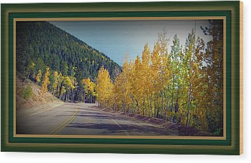 Wood Print featuring the photograph Road To Fall by Michelle Frizzell-Thompson