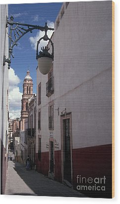 Wood Print featuring the photograph Road To The Cathedral Zacatecas Mexico by John  Mitchell