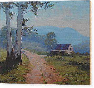 Road To The Farm Wood Print by Graham Gercken
