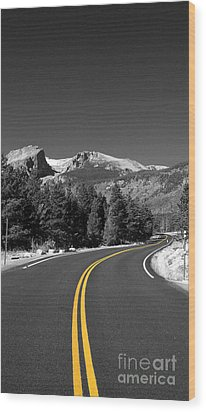 Road To The Rockies Wood Print by Holger Ostwald