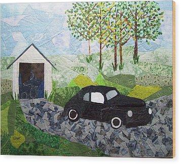 Road Trip Wood Print by Charlene White