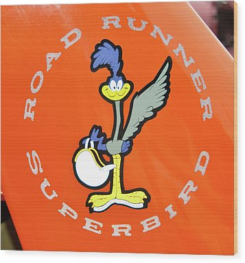 Roadrunner Wood Print by Guy Whiteley