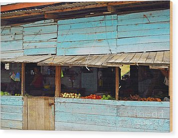 Roadside Fruit Stand- Belize Wood Print by Li Newton