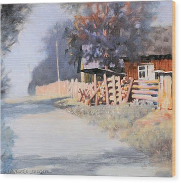 Roadside Wood Print by Kevin Lawrence Leveque