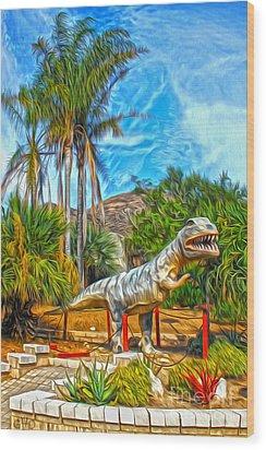 Roadside Raptor Wood Print by Gregory Dyer