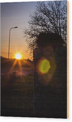 Wood Print featuring the photograph Roadwarmer by Matti Ollikainen