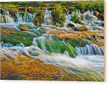 Roaring Rapids Wood Print by Joshua Dwyer
