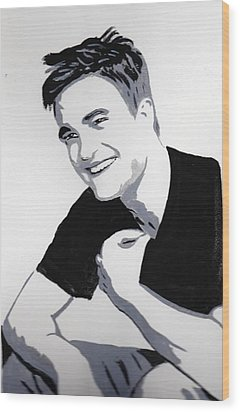 Robert Pattinson 1 Wood Print by Audrey Pollitt