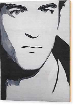 Robert Pattinson 5 Wood Print by Audrey Pollitt