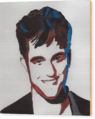 Robert Pattinson 7 Wood Print by Audrey Pollitt