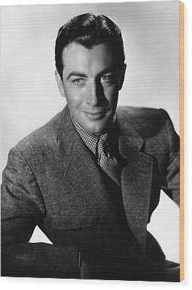 Robert Taylor, Mgm Portrait By Hurrell Wood Print by Everett