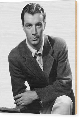 Robert Taylor, Photo Dated 05-14-1935 Wood Print by Everett