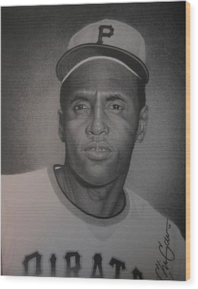 Roberto Clemente Wood Print by Christian Garcia