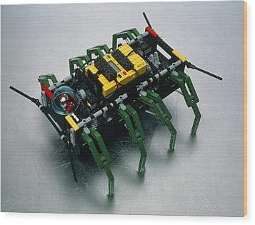 Robot Spider Constructed From Lego Wood Print by Volker Steger