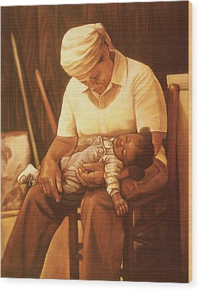 Rock-a-bye Grandma I Wood Print by Curtis James
