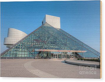 Rock And Roll Hall Of Fame II Wood Print by Clarence Holmes