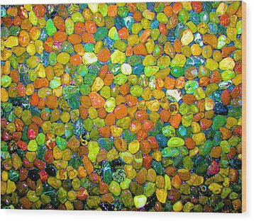 Wood Print featuring the photograph Rock Candy by Carolyn Repka