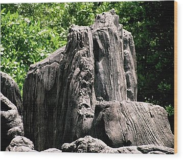 Rock Formation Wood Print by Maria Urso