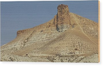 Rock Formations Of Wyoming Wood Print by Bruce Bley