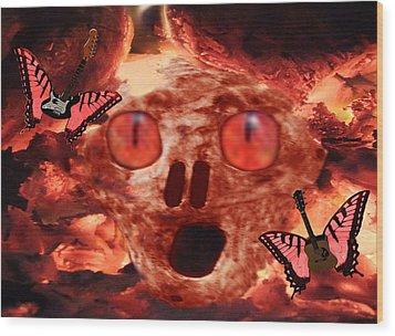 Rock N Hell Wood Print by Eric Kempson