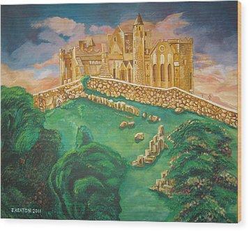 Rock Of Cashel-ireland Wood Print by John Keaton