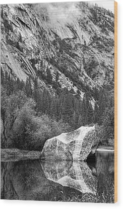 Wood Print featuring the photograph Rock Reflection by Jason Abando
