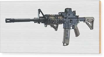 Rock River Arms Ar-15 Rifle Wood Print by Terry Moore