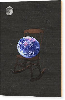 Rock The World Wood Print by Eric Kempson