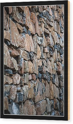 Rock Wall Wood Print by Miguel Capelo