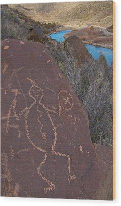 Wood Print featuring the photograph Rock Warrior by Britt Runyon