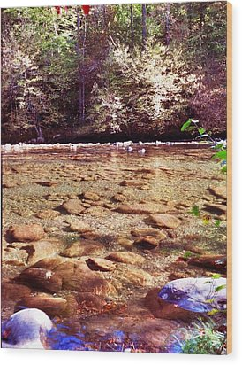 Wood Print featuring the photograph Rock Work by Janice Spivey