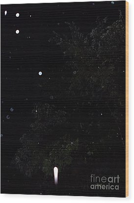 Rocket In The Rain Wood Print by Doug Kean