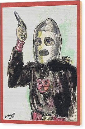 Rocket Man Wood Print by Mel Thompson