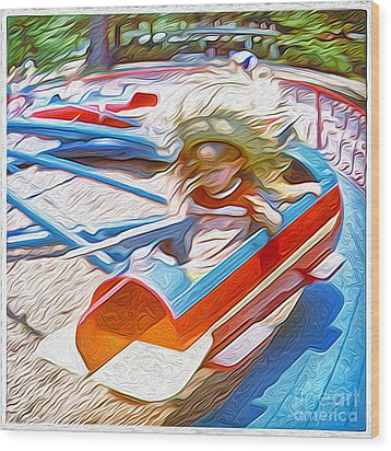 Rocket Ride Wood Print by Gregory Dyer