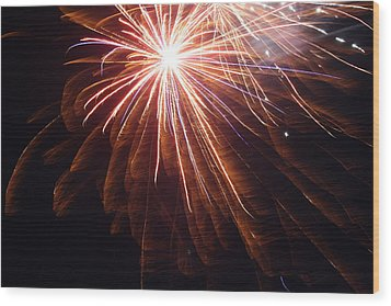 Rocket's Red Glare Wood Print by Heidi Yost