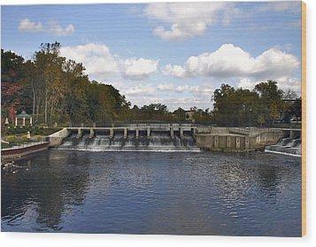 Rockford Dam Wood Print