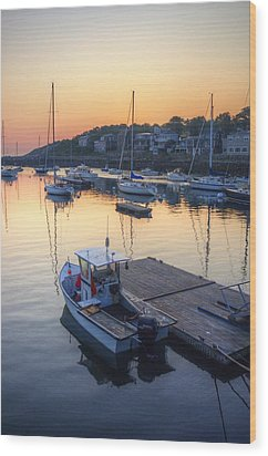 Rockport Dawn Wood Print by Matthew Green