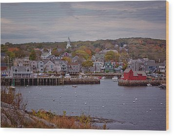 Wood Print featuring the photograph Rockport Harbor by Tom Singleton
