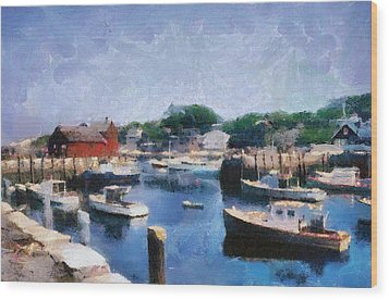 Rockport Maine Harbor Wood Print by Michelle Calkins