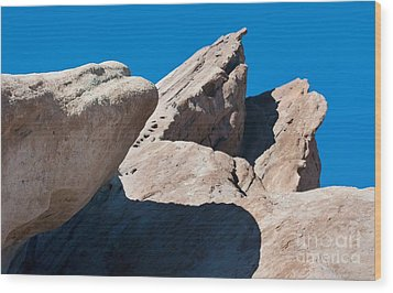Rocks In Perspective Wood Print by Dan Holm