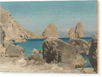 Rocks Of The Sirens Wood Print by Frederic Leighton
