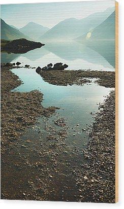 Rocks On The Beach Wood Print by Svetlana Sewell