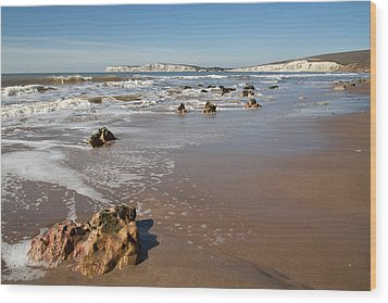 Rocky Bay Wood Print by Shirley Mitchell